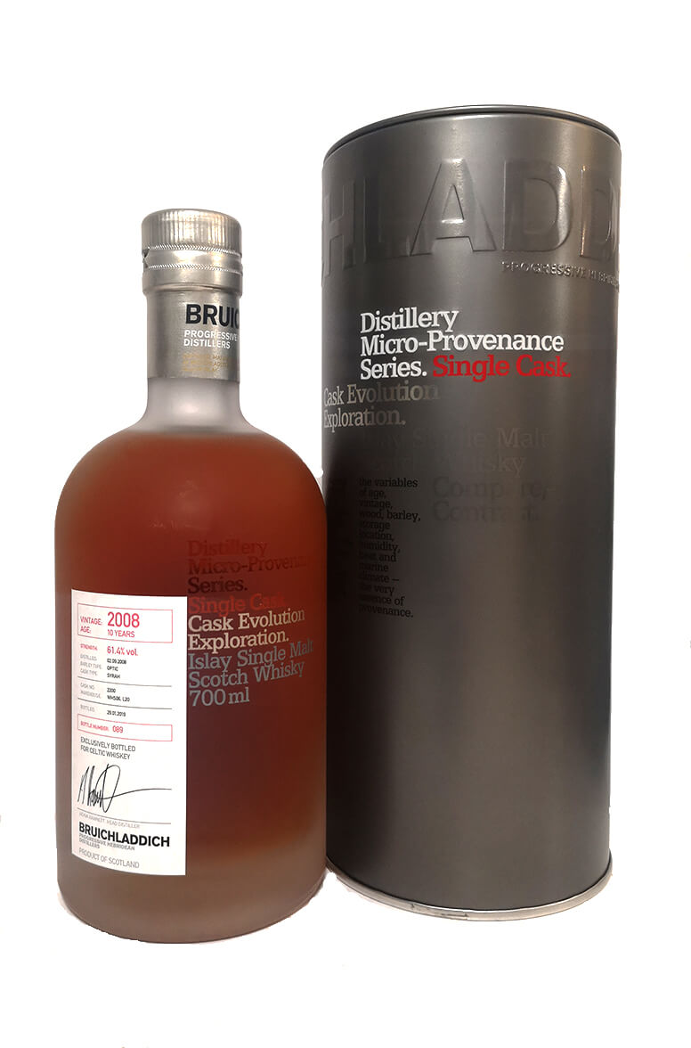 Bruichladdich Celtic Whiskey Shop Single Cask 10 Year Old