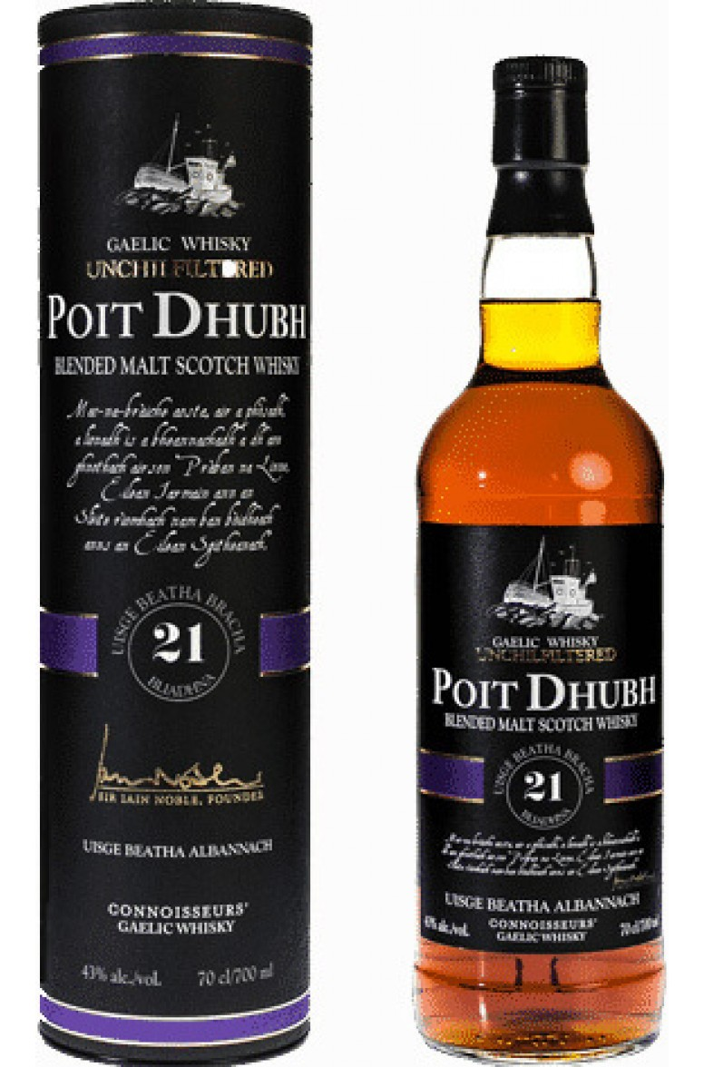 Poit Dhubh 21 Year Old Blended Malt