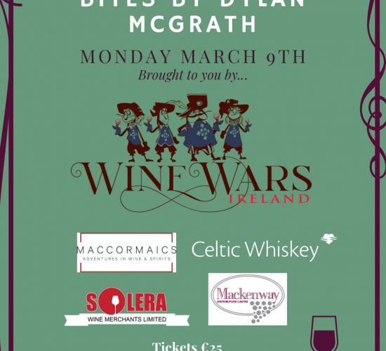 Wine Wars Tasting 9th March