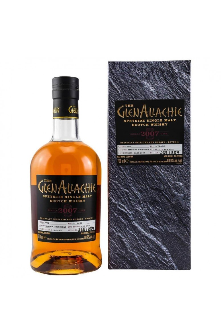GlenAllachie 2007 #3772 12 Year Old Single Cask