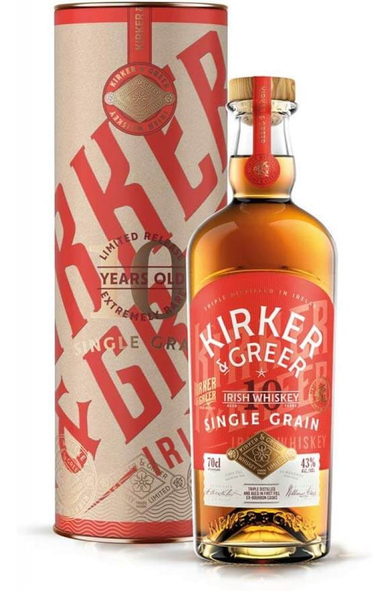 Kirker and Greer 10 Year Old Single Grain
