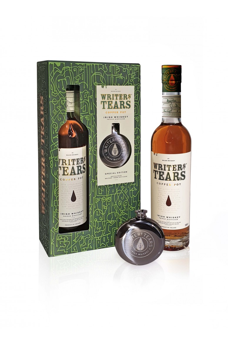 Writers' Tears Copper Pot Hip Flask Gift