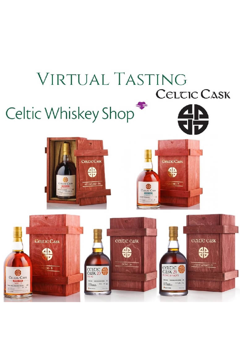 Celtic Cask Irish Whiskey Tasting 29th July Including Delivery EU Based Customers