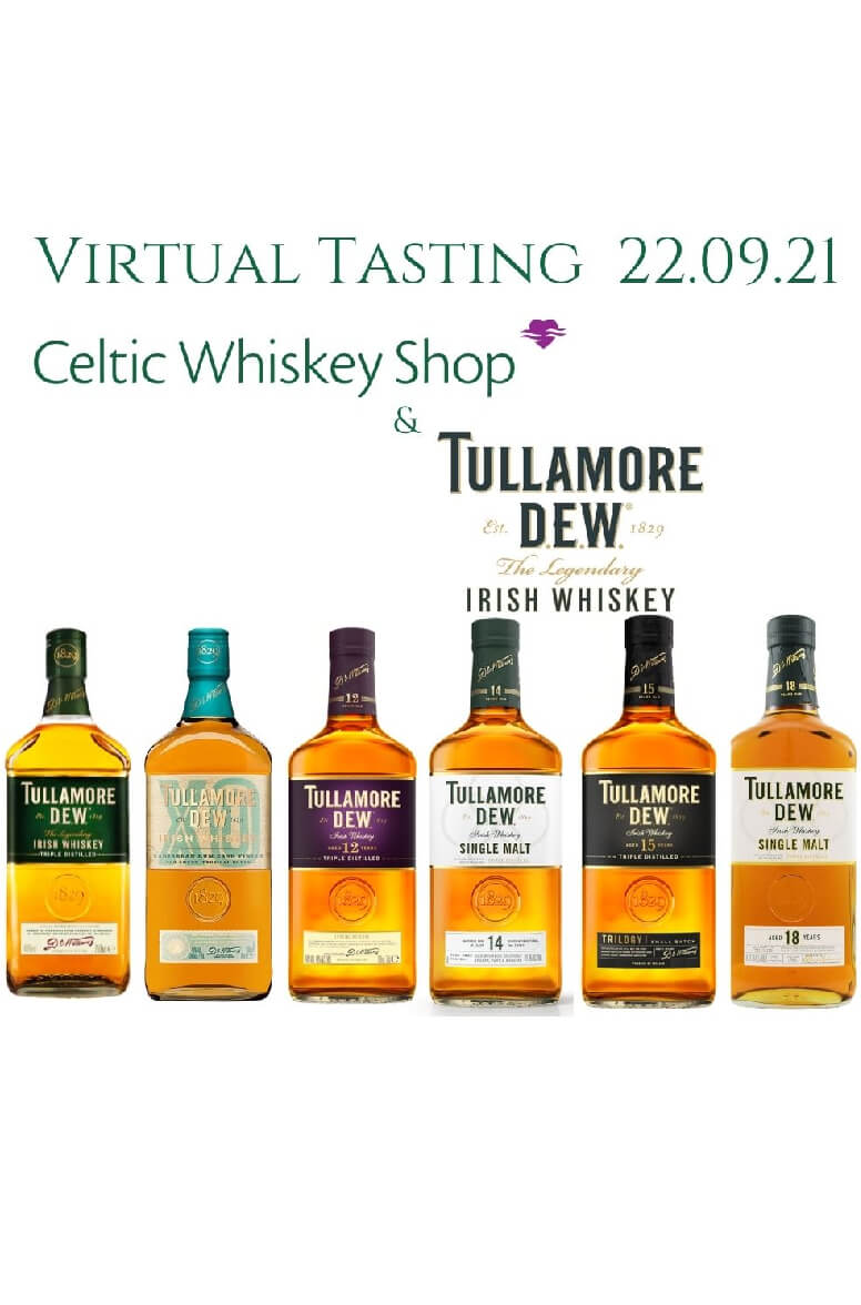 Tullamore DEW Range Tasting  22nd September (Delivery Outside EU)