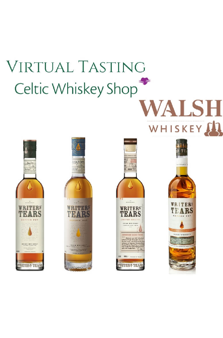 Writers Tears Tasting Pack 12th May Outside EU Based Customers Including Delivery