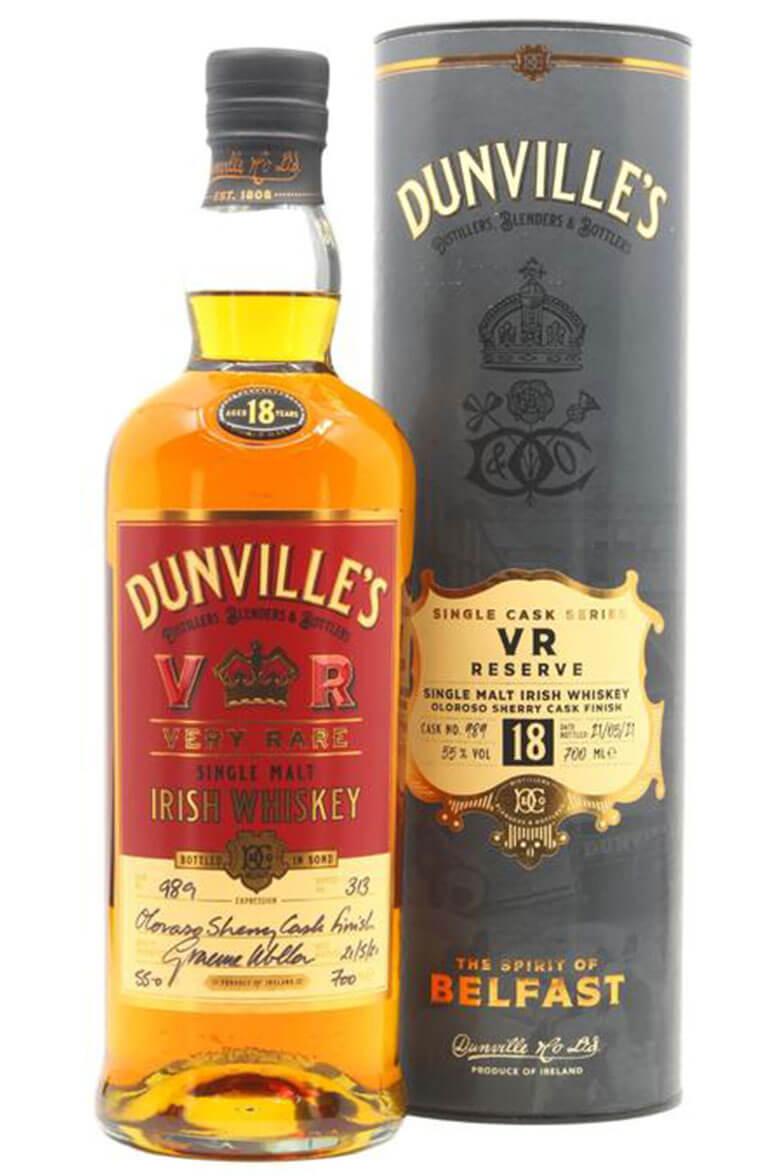 Dunvilles 18 Year Old Single Malt Single Cask 989