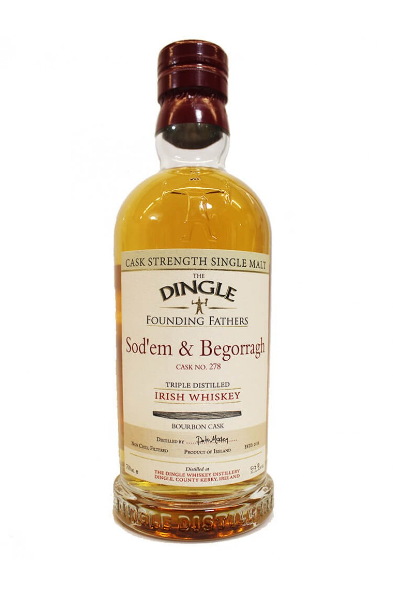 Dingle Founding Fathers Sod'em & Begorragh Bourbon Cask #278