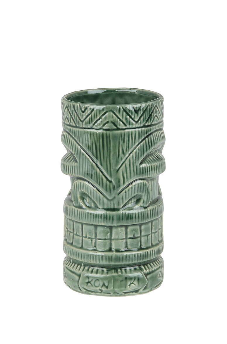 Ceramic Kon Tiki Mug Green