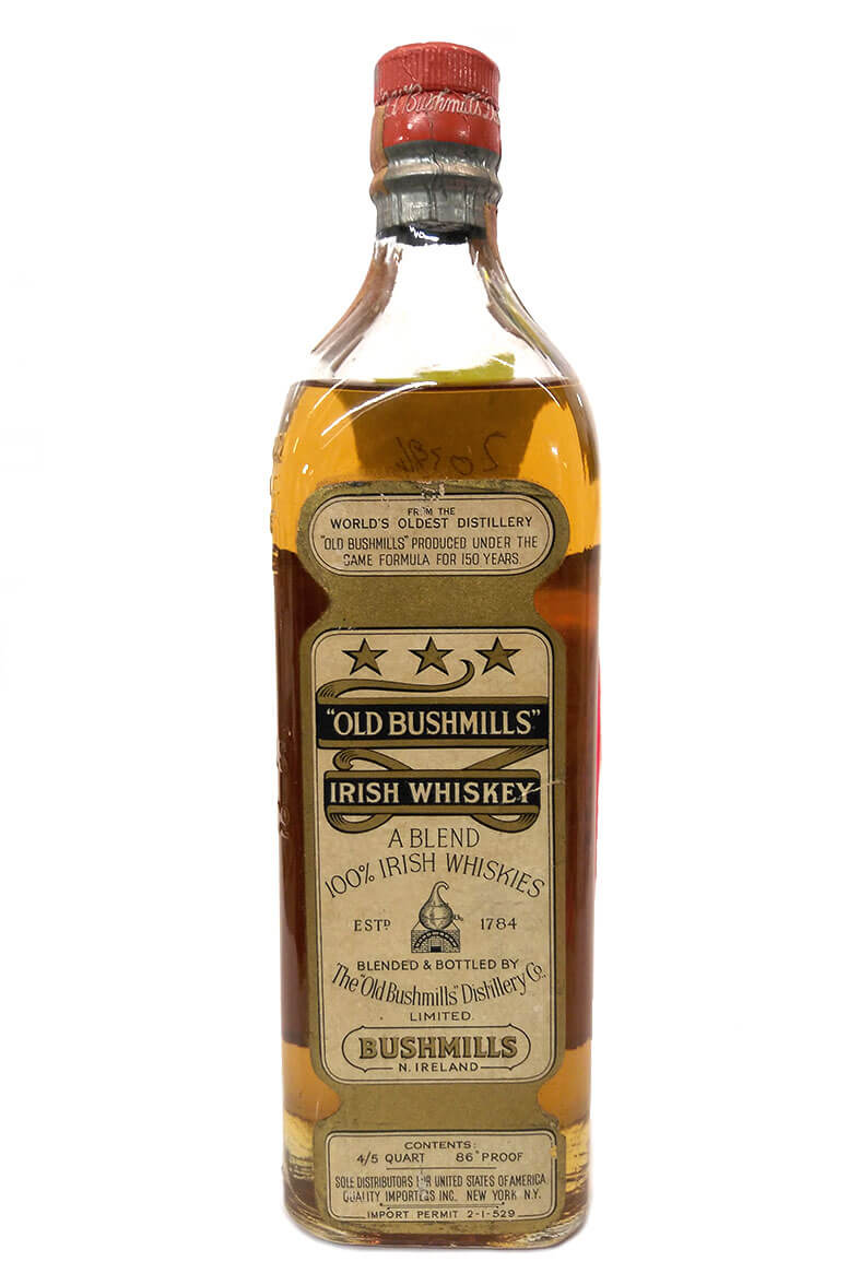 Bushmills 4/5 Quart New York Import