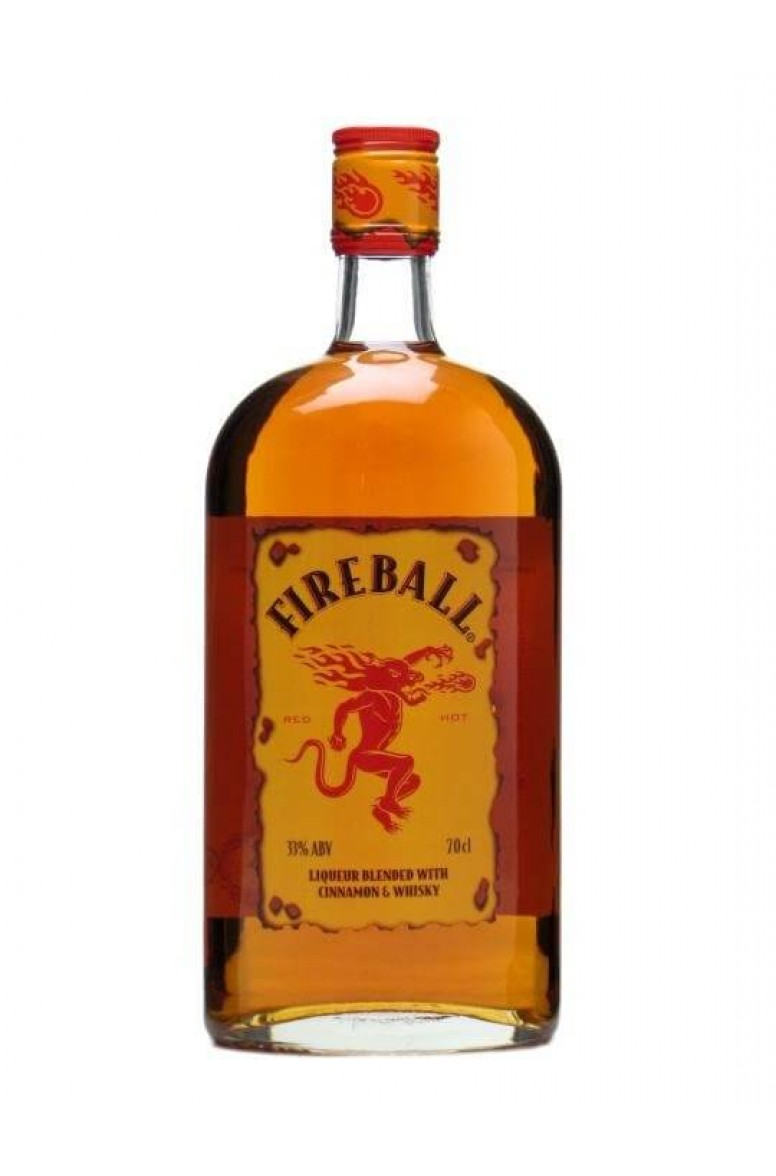 Fireball liqueur with cinnamon and whisky