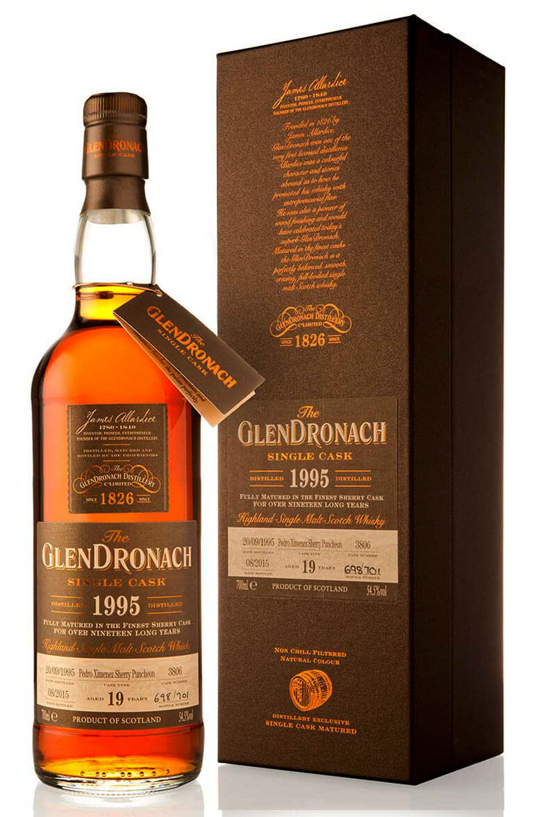 Glendronach 1995 19 Year Old Cask 3806