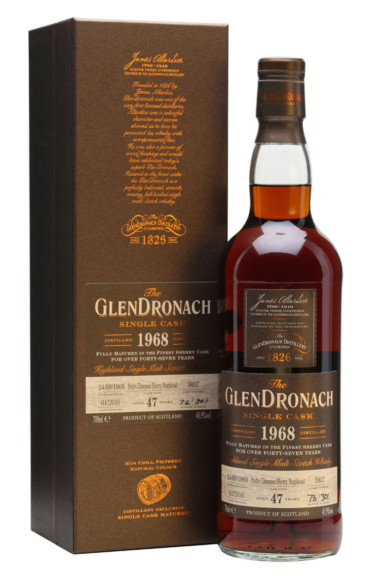 Glendronach 1968 47 Year Old Cask 5837