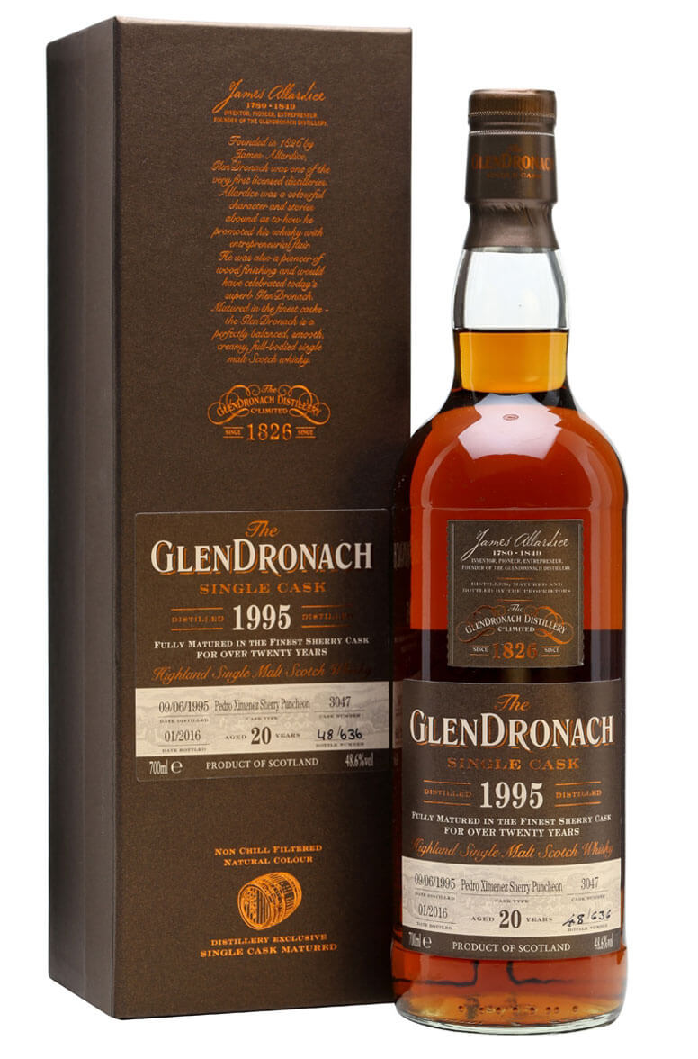 Glendronach 1995 20 Year Old Cask 3047