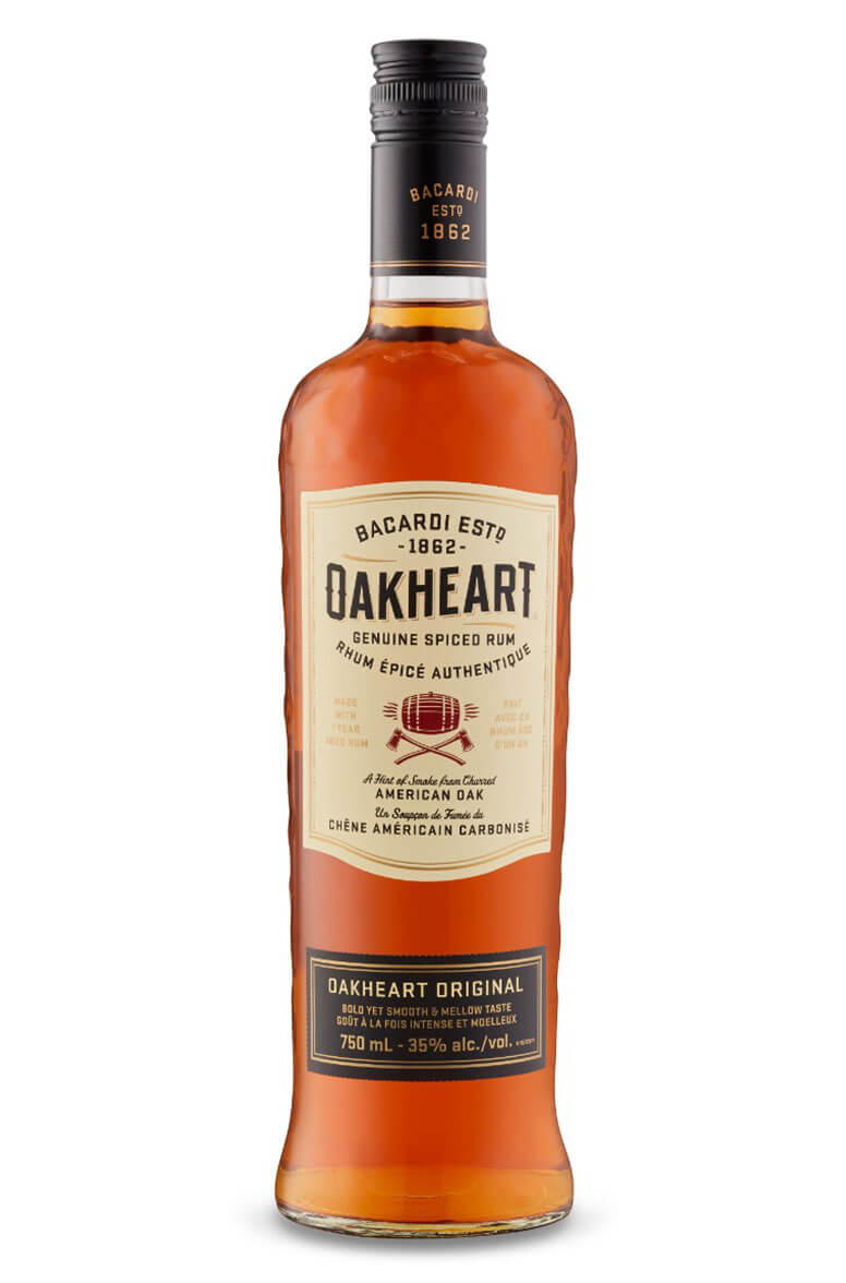Bacardi Oakheart Spiced Rum Spirit Drink