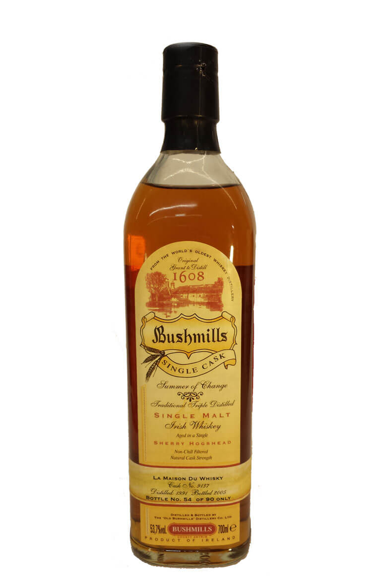 Bushmills Single Sherry Cask 9137 1991