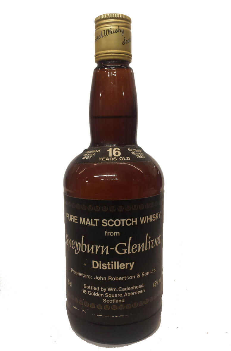 Speyburn-Glenlivet Cadenhead Bottling 16 Year Old