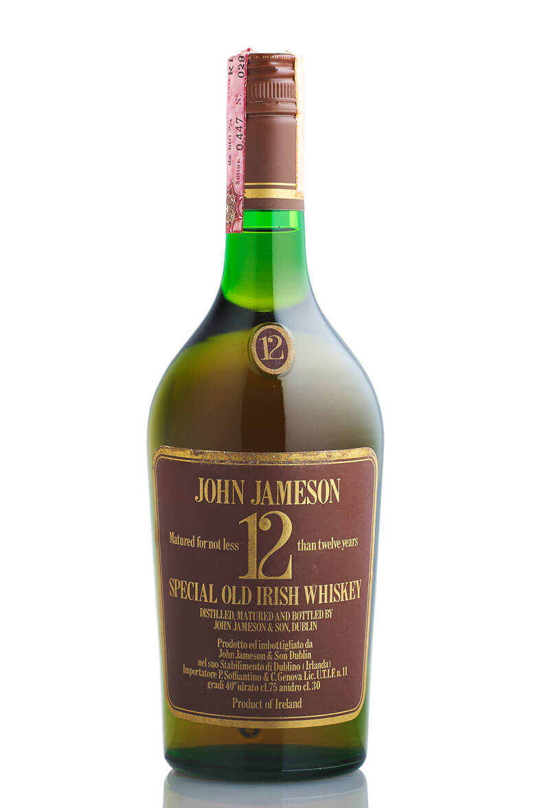 Jameson 12 Year Old 1970s Brown Label