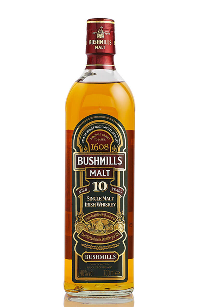 Bushmills 10 Year Old Single Malt Old Bottling