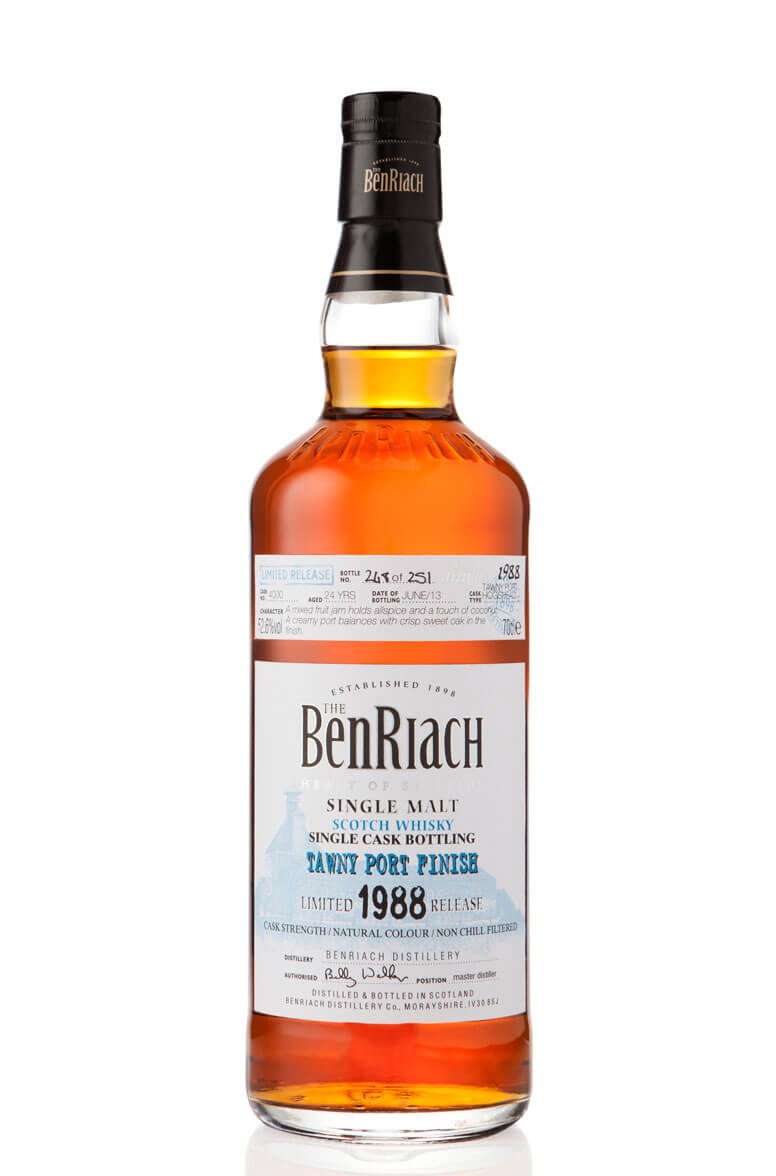 BenRiach 1988 cask 4000 Tawny Port 24 Year Old