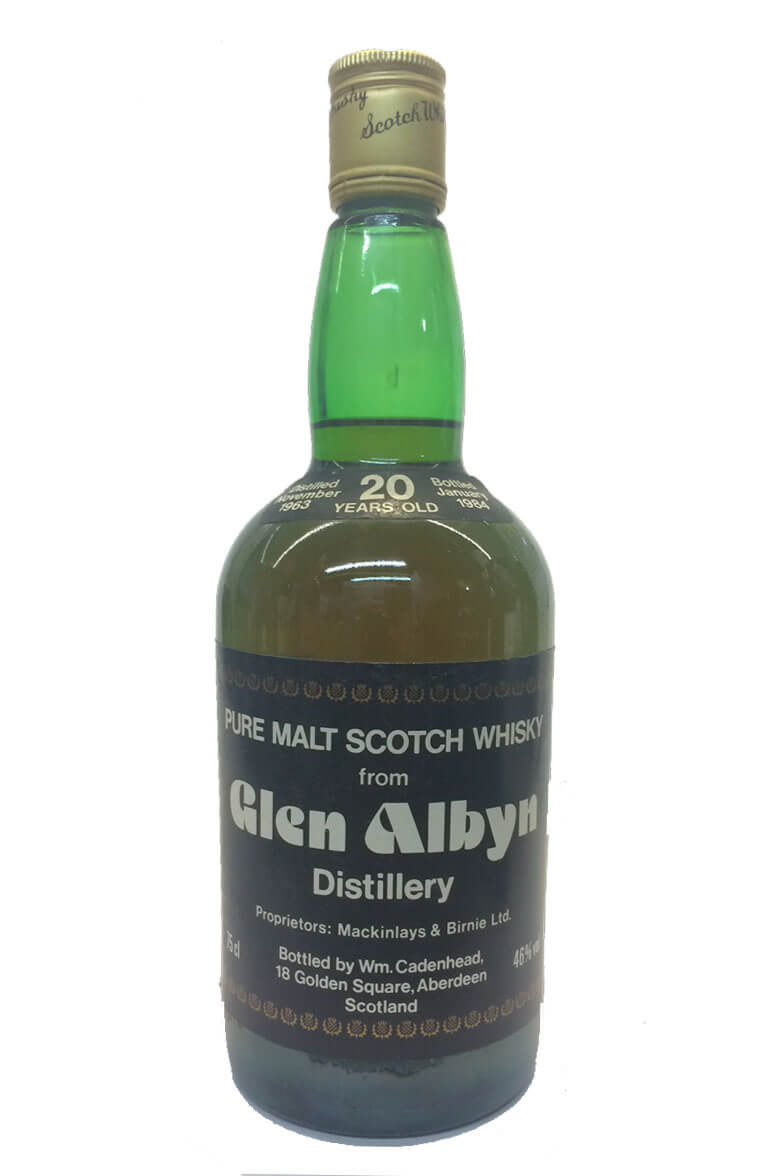 Glen Albyn Cadenhead Bottling 20 Year Old