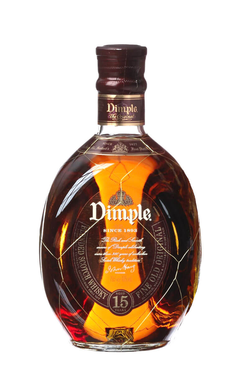 Buy Dimple Pinch Red Ceramic Decanter 15 Year Old Online: Haig Dimple