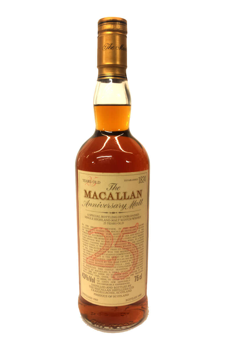 Macallan 25 Year Old 1963 Anniversary Malt