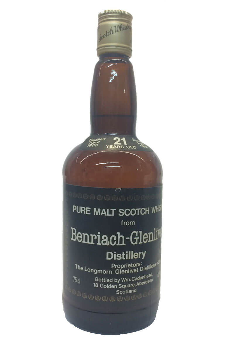 Benriach-Glenlivet Cadenhead Bottling 21 Year Old